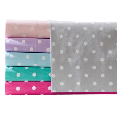 Polka Dot Printed Cotton Sheet Set by Jla Home