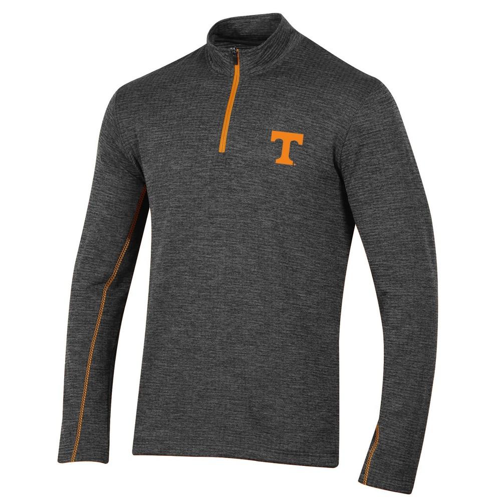 Tennessee Volunteers Men's Long Sleeve Digital Textured 1/4 Zip Fleece - Gray S