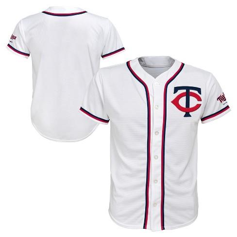 MLB Minnesota Twins Boys' White Team Jersey - image 1 of 3