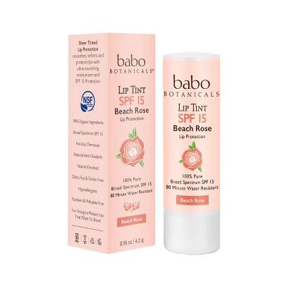 Babo Bototanicals Lip Tint Conditioner - Beach Rose - SPF 15 - .15oz