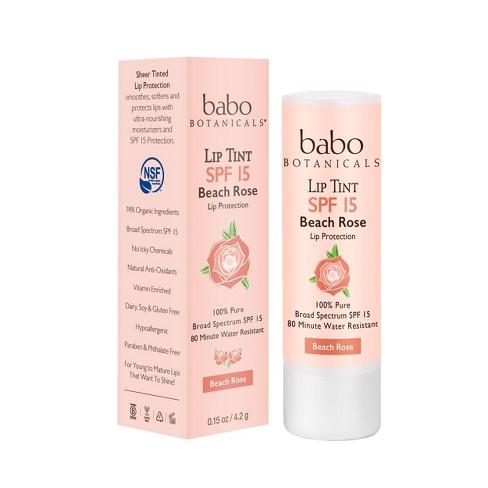 Babo Bototanicals Lip Tint Conditioner - Beach Rose - SPF 15 - .15oz - image 1 of 4