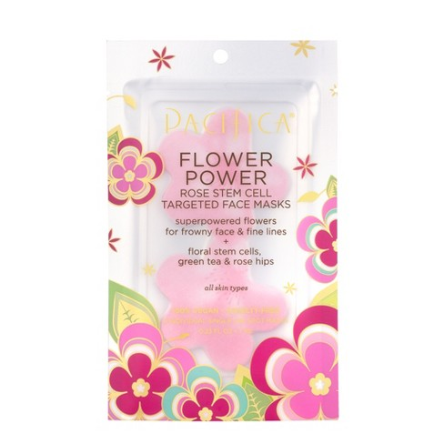 Pacifica Flower Power Rose & Peptide Targeted Sheet Face Mask - .67oz - image 1 of 3