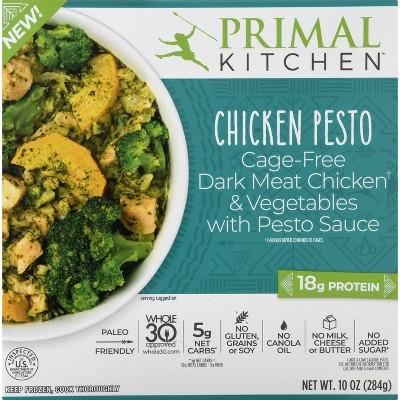 Primal Kitchen Gluten Free Frozen Chicken Pesto Bowl - 10oz