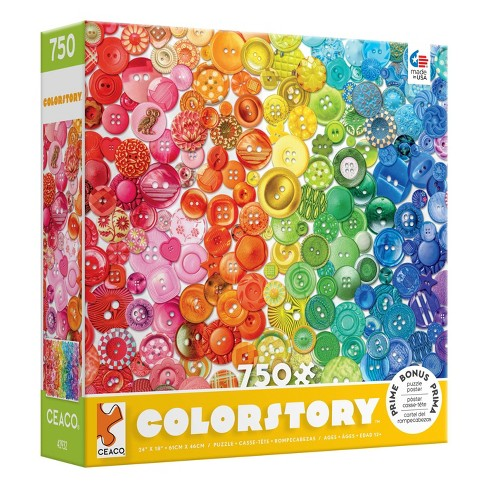 Ceaco Buttons Color Story Jigsaw Puzzle - 750pc - image 1 of 3