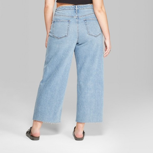 f4429382c0 Women s Plus Size High-Rise Wide Leg Cropped Jeans - Wild Fable™. Shop all Wild  Fable