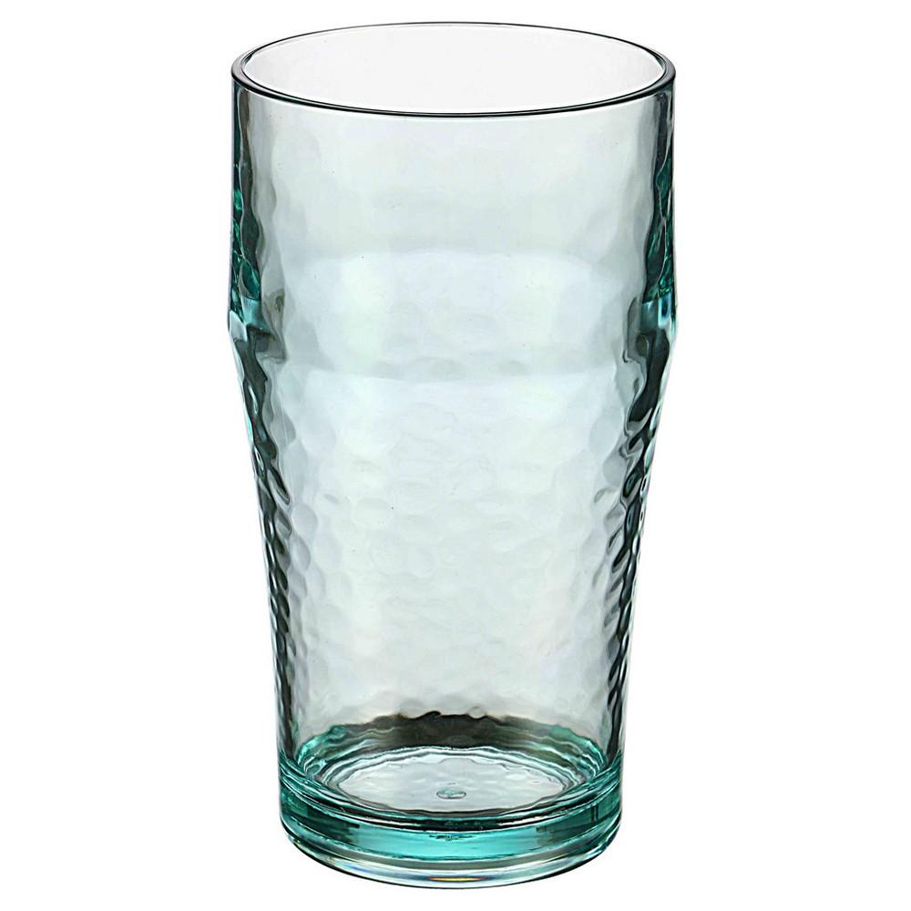 Image of Felli Acrylic Tall Tumblers 19oz Seaglass - Set of 6, Blue