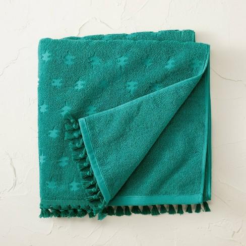 Jacquard Bath Towel with Fringe - Opalhouse™ designed with Jungalow™ - image 1 of 4