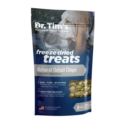 Dr. Tim's Pet Food Freeze Dried Beef Oxtail Chips - 8oz