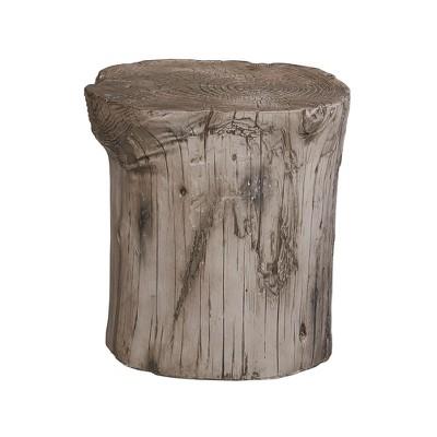Killian Faux Wood Accent Stool Gray - Powell Company