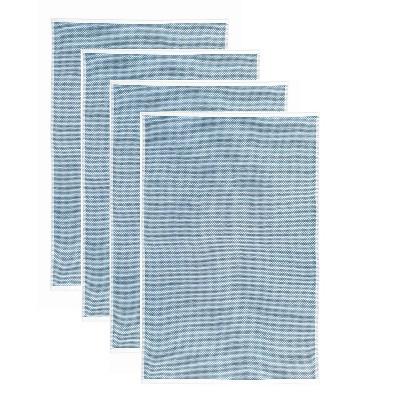 4pk Terry Honeycomb Kitchen Towel Classic Blue - MU Kitchen