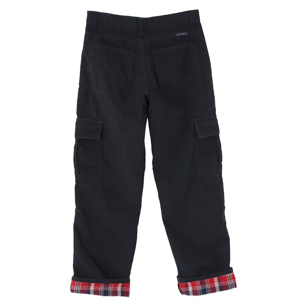 Wrangler Originals Boys' Flannel Lined Ripstop Cargo Pants Black 14