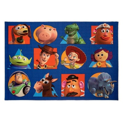 "54""x78"" Toy Story Squares Area Rug"