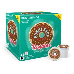 The Original Donut Shop Regular Medium Roast Coffee - Keurig K-Cup Pods - 48ct