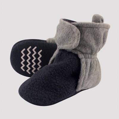 Hudson Baby Baby Girls' Fleece Lined Scooties - Navy/Gray 6-12M