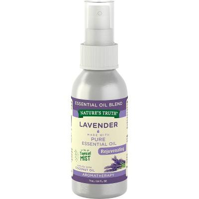 Nature's Truth Rejuvenating Lavender Aromatherapy Essential Oil Mist Spray - 2.4 fl oz