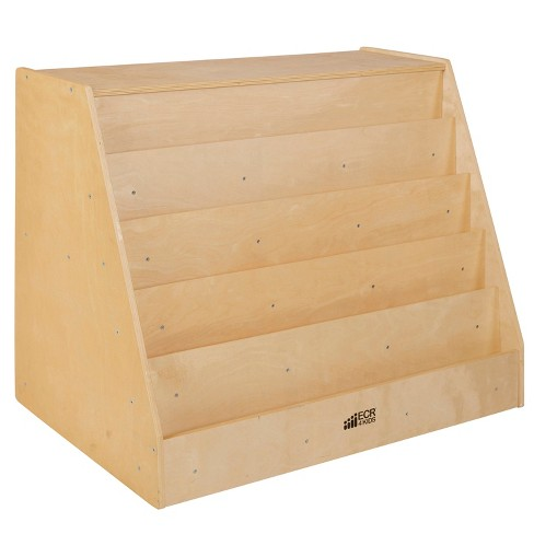 ECR4Kids Birch Book Display with Back Storage Shelves - School or Home Furniture - image 1 of 4