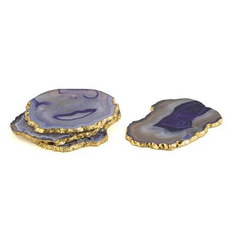 Set Of 4 Agate Coasters - Shiraleah - image 1 of 2