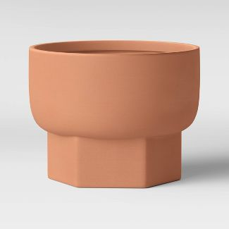 "6"" Hexagon Stoneware Planter Terracotta - Project 62™"