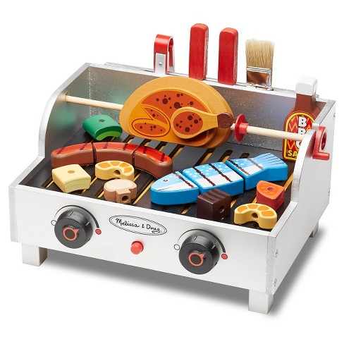 Melissa & Doug® Rotisserie and Grill Wooden Barbecue Play Food Set (24pc) - image 1 of 4