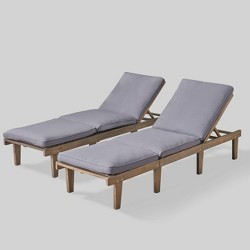 Ariana 2pk Acacia Wood Chaise Lounge - Christopher Knight Home