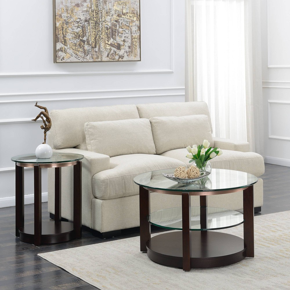 Image of 2pc Benton Occasional Table Set Espresso - Picket House Furnishings, Brown