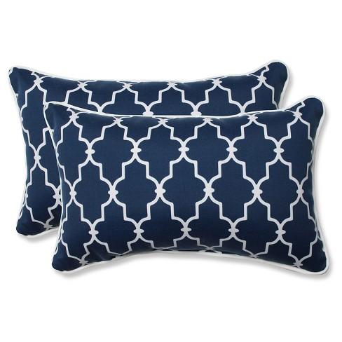 Pillow Perfect Garden Gate Outdoor Throw Pillow Set Navy Target