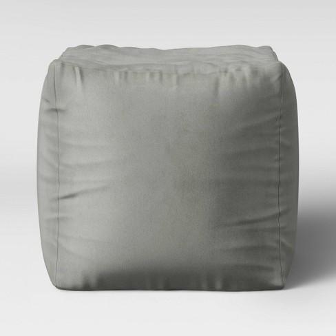 Velvet Pouf - Room Essentials™ - image 1 of 3