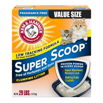 Arm & Hammer Fragrance Free Super Scoop Clumping Litter - 29lbs