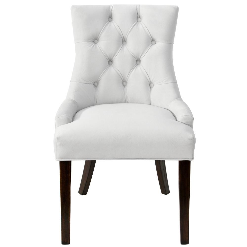 English Arm Dining Chair White Velvet - Threshold
