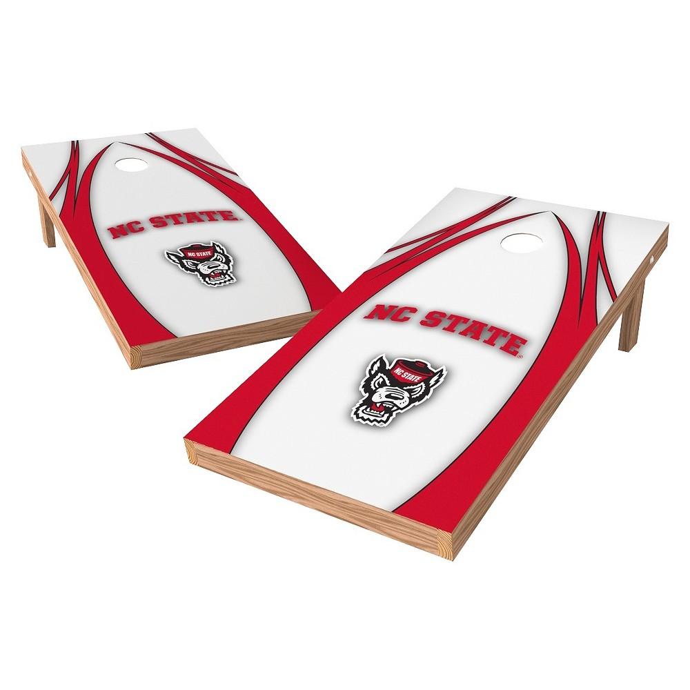 NC State Wolfpack Wild Sports 2' x 4' V Logo Design Authentic Cornhole Set