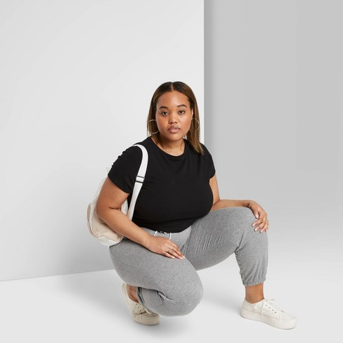 Women's High-Rise Vintage Jogger Sweatpants - Wild Fable™ - image 1 of 3