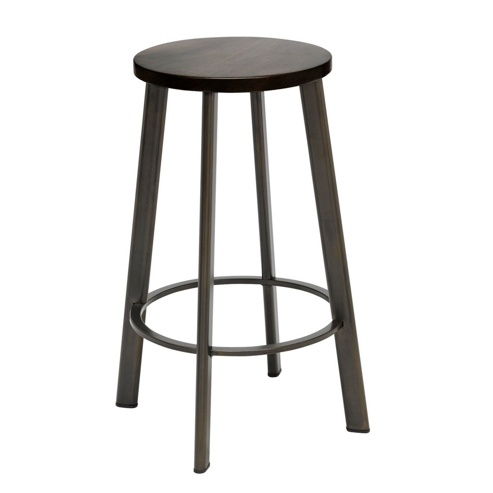 Image of Metro Counter Height Stool Espresso Brown - KFI Seating