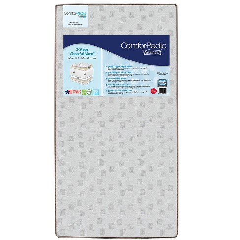 Simmons Kids Comforpedic from Beautyrest Dual Sided Crib/Toddler Mattress- Gray - image 1 of 2