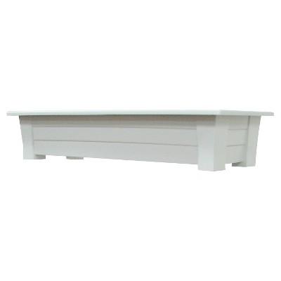 36  Rectangular Deck Rail Rectangular Planter - White - Adams Manufacturing