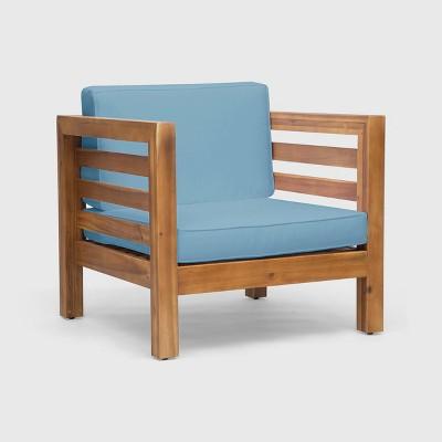 Oana Acacia Wood Club Chair - Christopher Knight Home