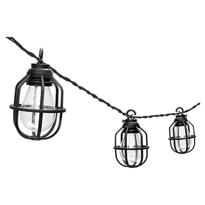 8' Paradise Garden 10 ct LED Edison Cage String Lights