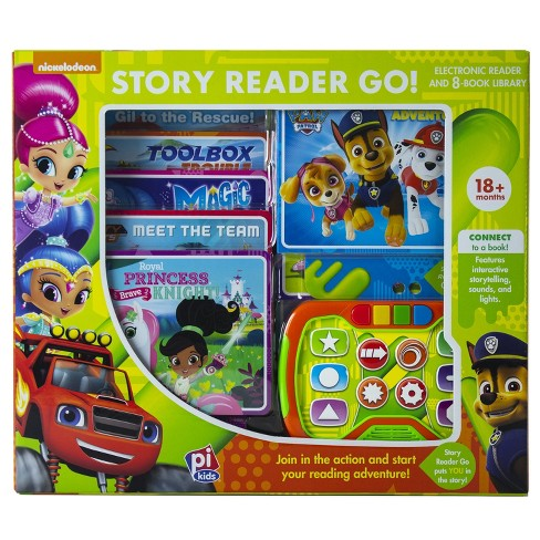 Nick Jr. Electronic Interactive Story Reader Go and 8-book Boxed Set
