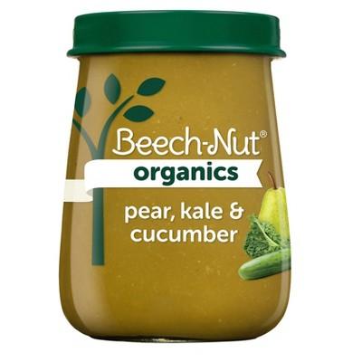 Beech-Nut Organics Pear Kale & Cucumber Baby Food Jar - 4oz