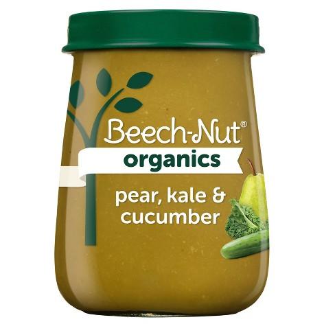 Beech-Nut Organics Pear Kale & Cucumber Baby Food Jar - 4oz - image 1 of 4