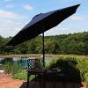 Aluminum Sunbrella Market Tilt Patio Umbrella 9' - Navy Blue - Sunnydaze Decor - image 3 of 4