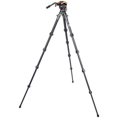 3 Legged Thing Legends Jay Carbon Fiber Travel Levelling Base Tripod with AirHed Cine & Arca-Swiss Compatible Video Plate - image 1 of 4
