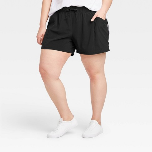 "Women's Plus Size Stretch Woven Shorts 4"" - All in Motion™ - image 1 of 4"