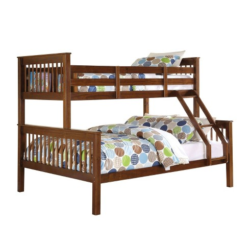Twin Over Full Haley Bunk Bed Walnut - Acme - image 1 of 2