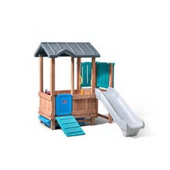 Woodland Adventure Playhouse-N-Slide Playset Step2
