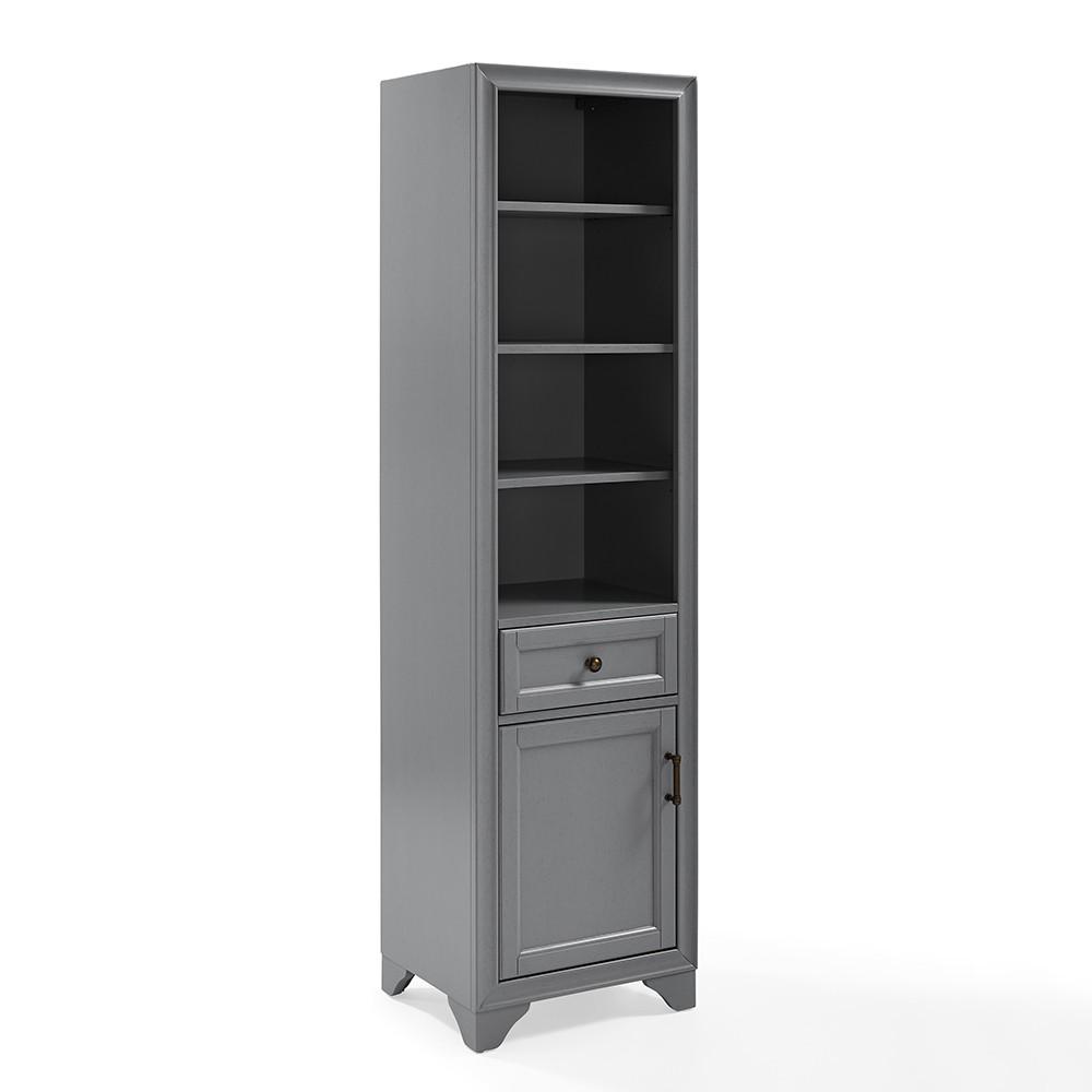 Image of Tara Linen Decorative Wall Cabinet Gray - Crosley