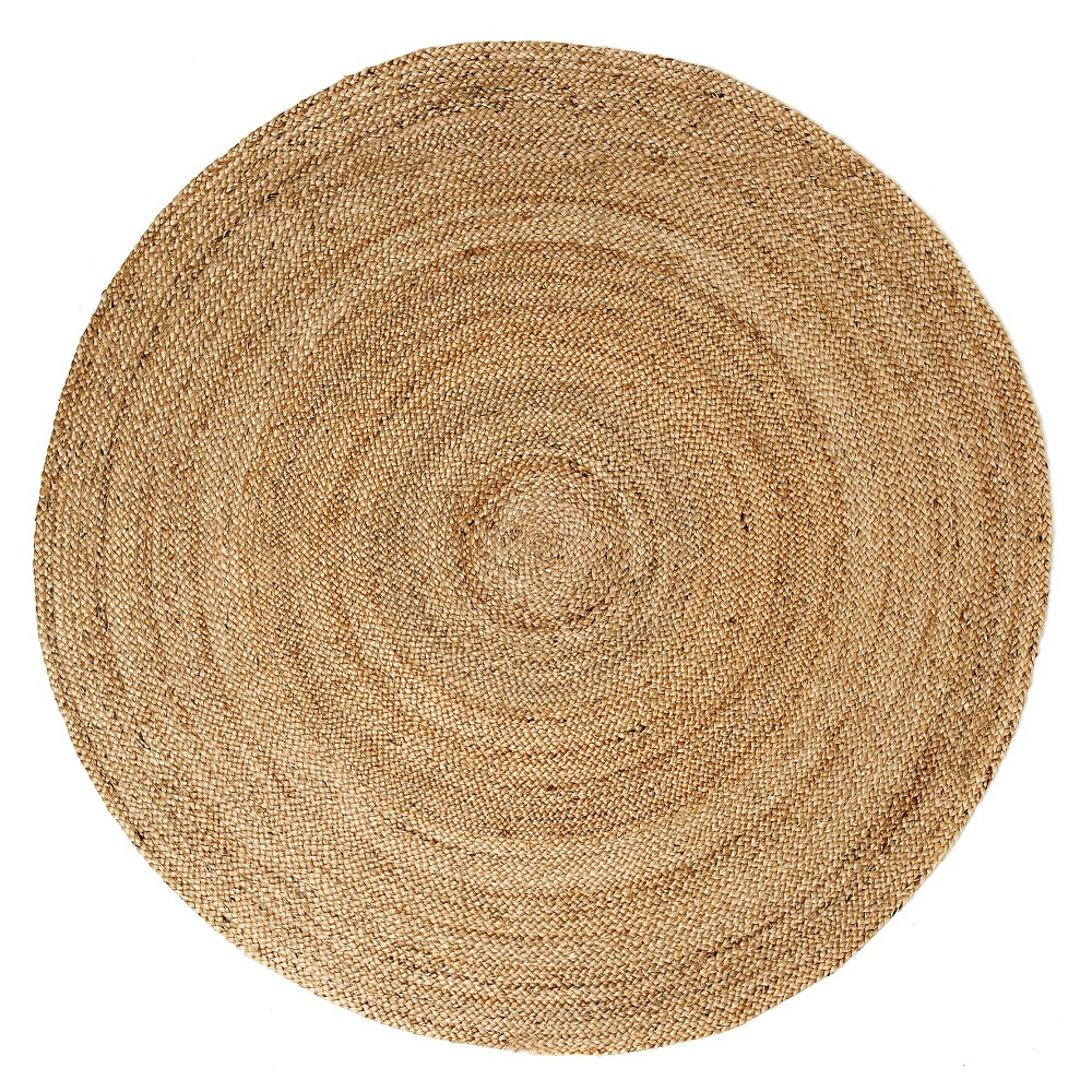Image of 4'X4' Solid Area Rug Natural - Anji Mountain