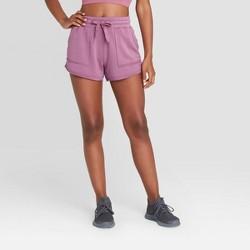 "Women's Mid-Rise Fleece Shorts 3"" - JoyLab™"