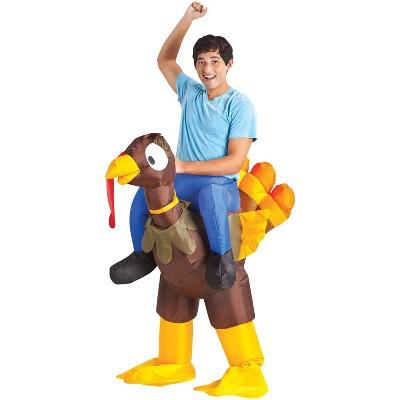 Adult Inflate Turkey Rider Halloween Costume