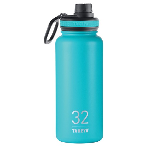 Takeya Originals 32oz Insulated Stainless Steel Water Bottle with Spout Lid - Teal (Blue)