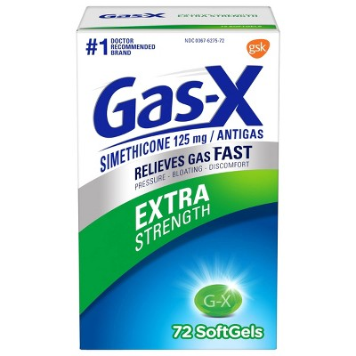Gas-X Extra Strength Softgel for Gas Relief - 72ct